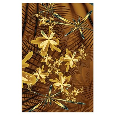Abstract Flower Trappings Poster