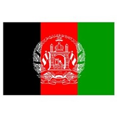 Afghanistan Flag Wall Art Poster