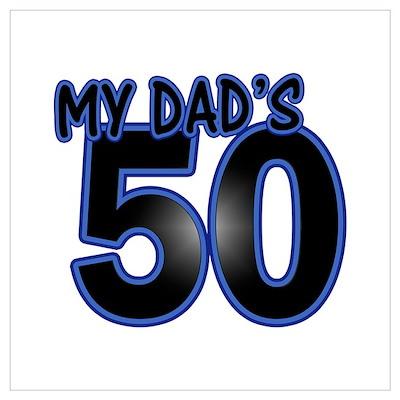 Dad's 50th Birthday Poster