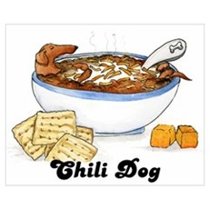 Chili Dog Framed Print