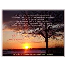 Lord's Prayer - Pink Sunset Poster