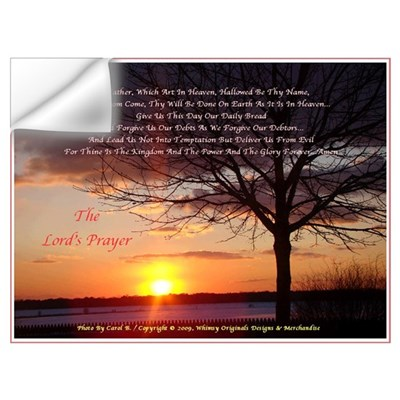 Lord's Prayer - Pink Sunset Wall Decal