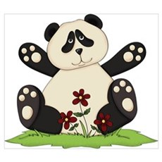 Panda Bear Hug Poster