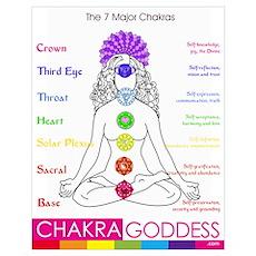 (A2): 7 Major Chakras at-a-glance Poster