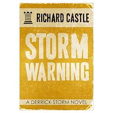 Retro Castle Storm Warning Poster