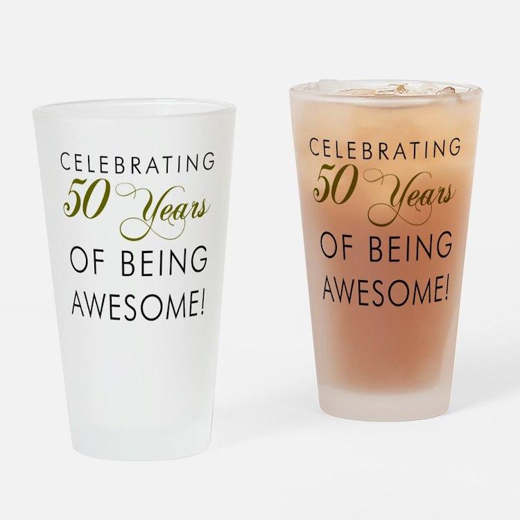 Celebrating 50 Years Drinking Glass