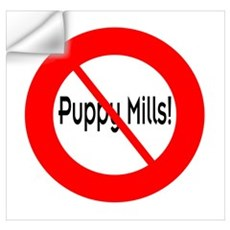 No Puppy Mills Wall Decal
