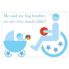 Big brother in wheelchair - Disability Large Poste Poster