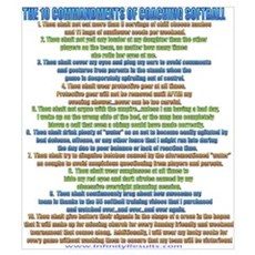 10 Commandments of Coaching Poster