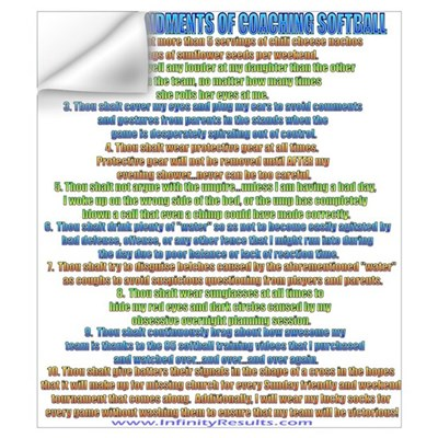10 Commandments of Coaching Wall Decal