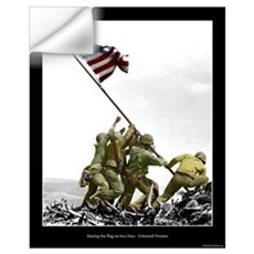 Raising the Flag on Iwo Jima - Partial Colorized Wall Decal