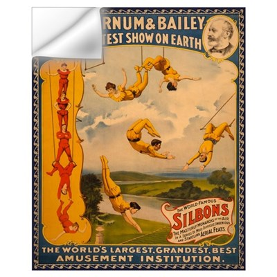 BARNUM AND BAILEY ACROBAT 16x20 Wall Decal