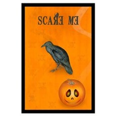 Scared / crow Poster