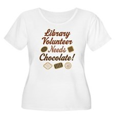 Library Volunteer Chocolate T-Shirt