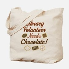 Library Volunteer Chocolate Tote Bag