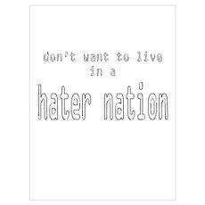 hater nation Poster