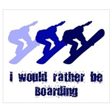 Rather be Boarding Canvas Art