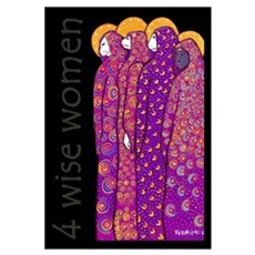 4 Cat Wisewomen Poster