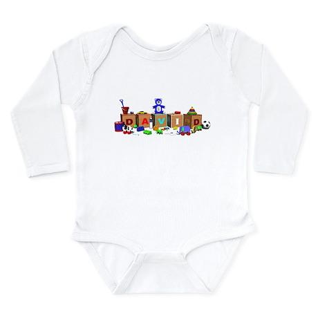 David Long Sleeve Infant Bodysuit