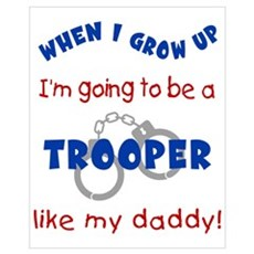 Trooper Like Daddy Canvas Art