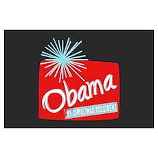 Obama Christmas President Poster