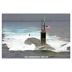 USS CONNECTICUT Poster
