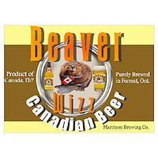 Beaver Wizz Beer Poster