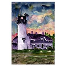 Chatham Cape Cod Lighthouse Painting Canvas Art