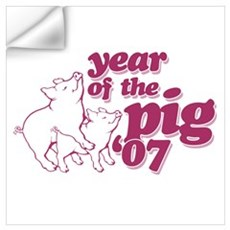Year of The Pig 2007 Wall Decal