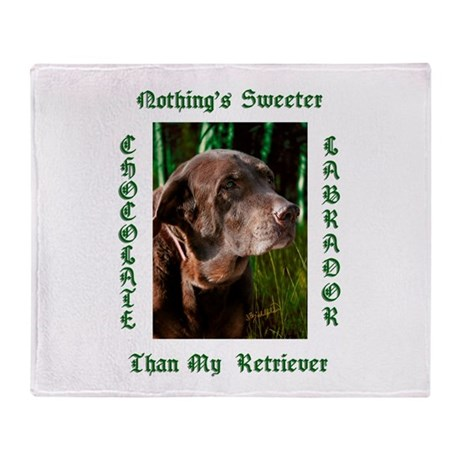 Chocolate Sweet Lab Throw Blanket