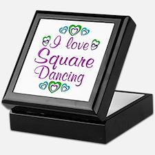 Love Square Dancing Keepsake Box