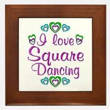 Love Square Dancing Framed Tile
