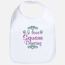 Love Square Dancing Bib