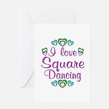 Love Square Dancing Greeting Card