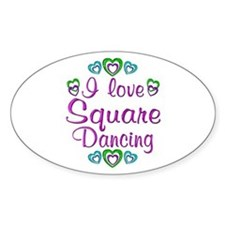 Love Square Dancing Decal