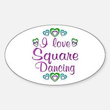 Love Square Dancing Decal