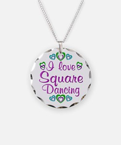 Love Square Dancing Necklace