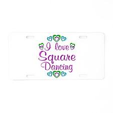 Love Square Dancing Aluminum License Plate