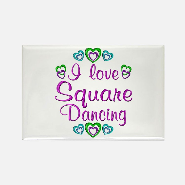 Love Square Dancing Rectangle Magnet