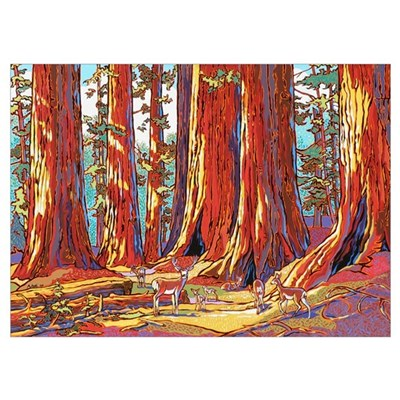 Sequoia Deer Poster
