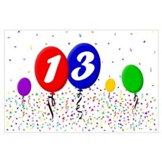 13th Birthday Poster