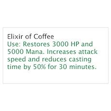 Elixir of Coffee Poster