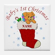 Babys 1st Christmas Tile Coaster