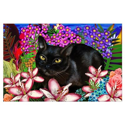 Mary's Cat Tropical Poster