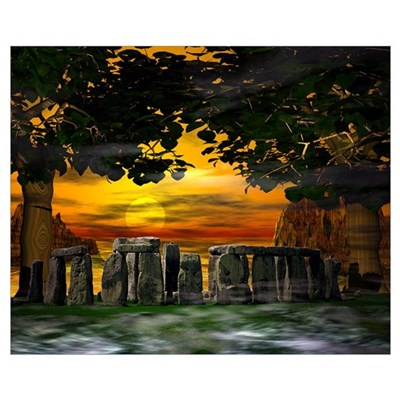 Mystic Stonehenge Poster