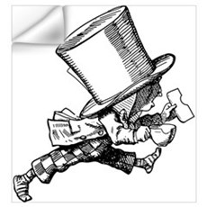 Mad Hatter Striding Right Wall Decal