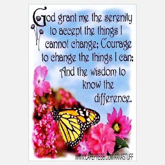 FLOWERED SERENITY PRAYER