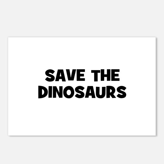 Save The Dinosaurs Postcards (Package of 8)