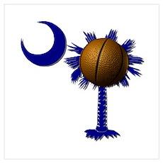 South Carolina Basketball Poster