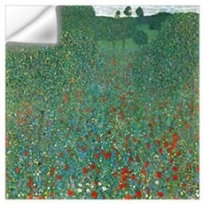Gustav Klimt Poppy Field Wall Decal